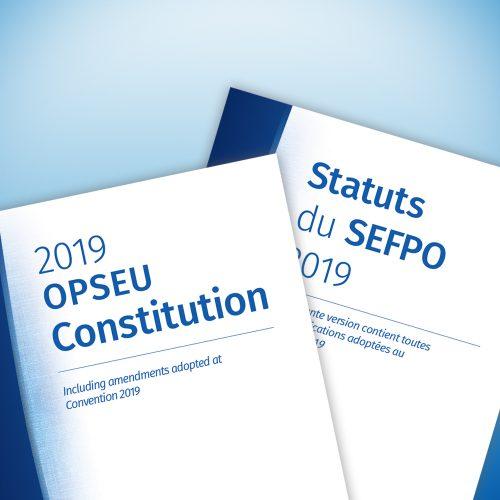 OPSEU Constitution - Statuts du SEFPO