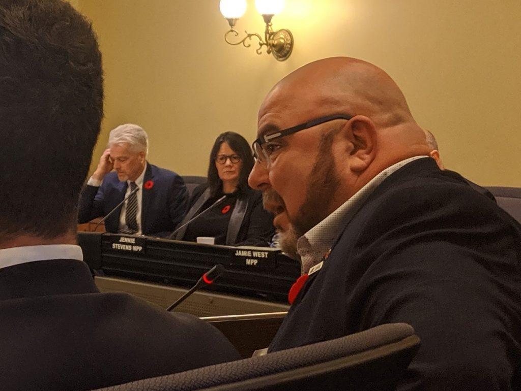 Almeida at bill 124 hearing