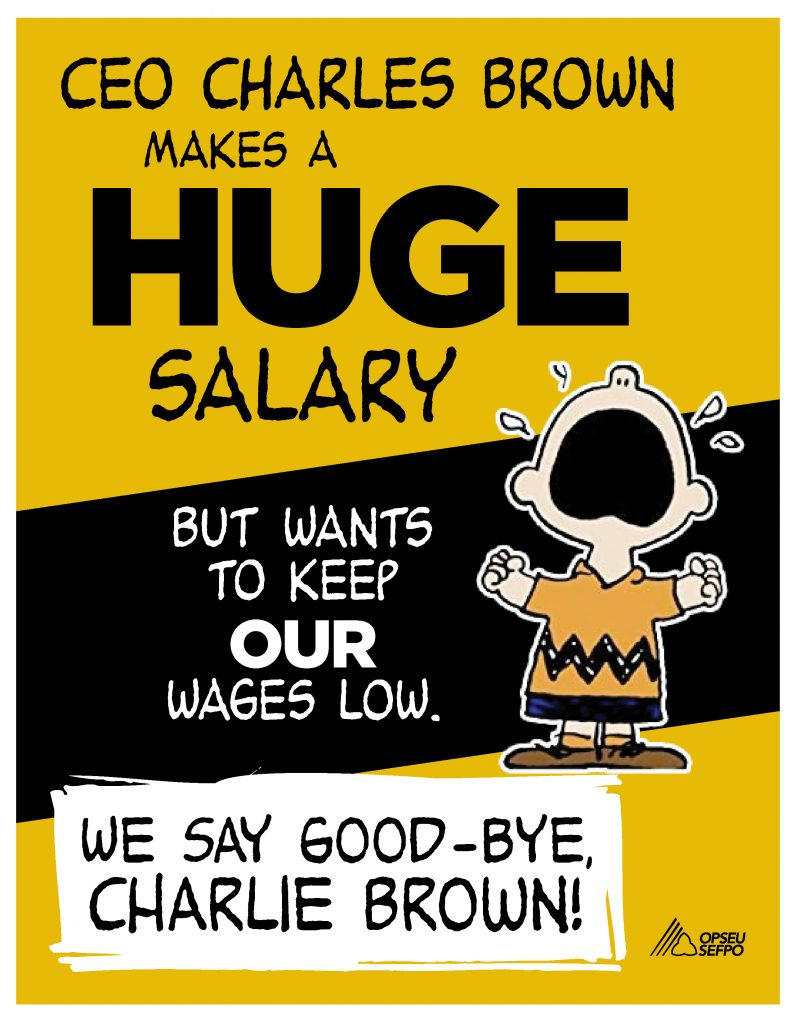 OPSEU members to LifeLabs CEO: Goodbye, Charlie Brown!