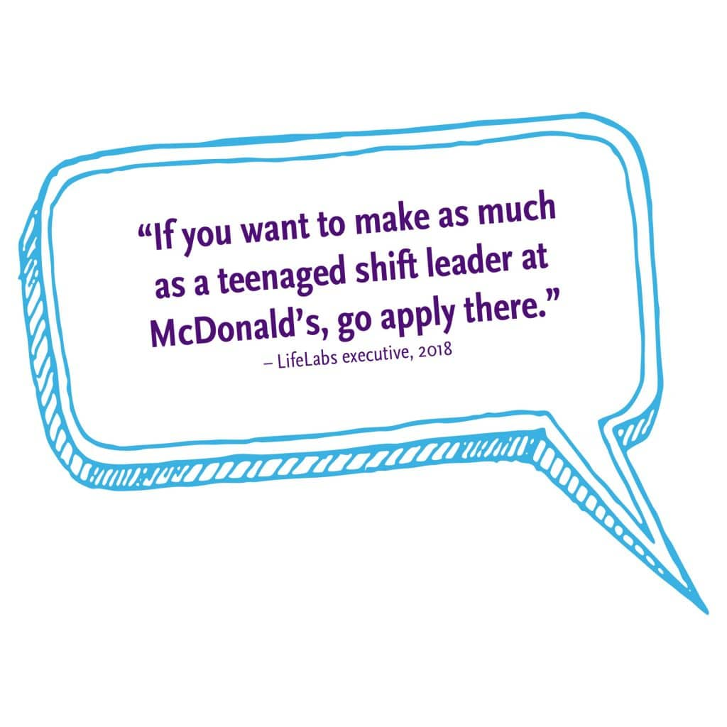 If you want to make as much as a teenaged shift leader at McDonalds, go apply there
