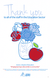 Thank you to all of the staff in the education sector