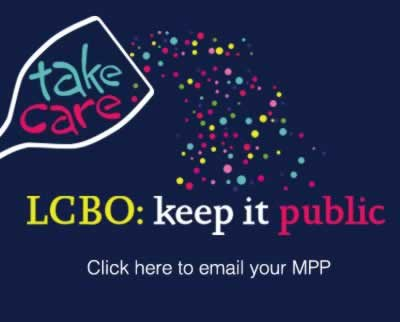 LCBO keep it public: click here to email your mpp