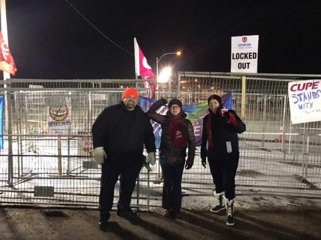 Le SEFPO appuie Unifor avec du renfort sur le terrain en Saskatchewan