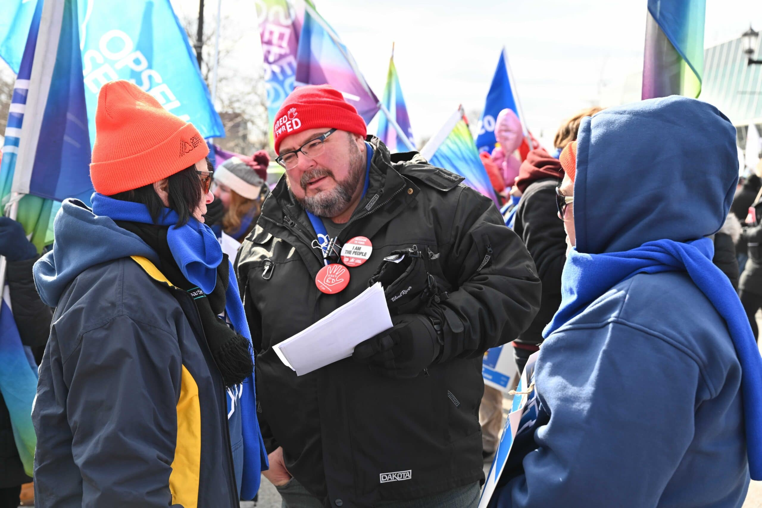 Eddy almedia at OFL rally speaking with members