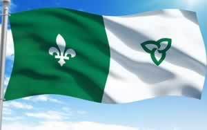 This image has an empty alt attribute; its file name is Drapeau-franco-ontarien.jpg
