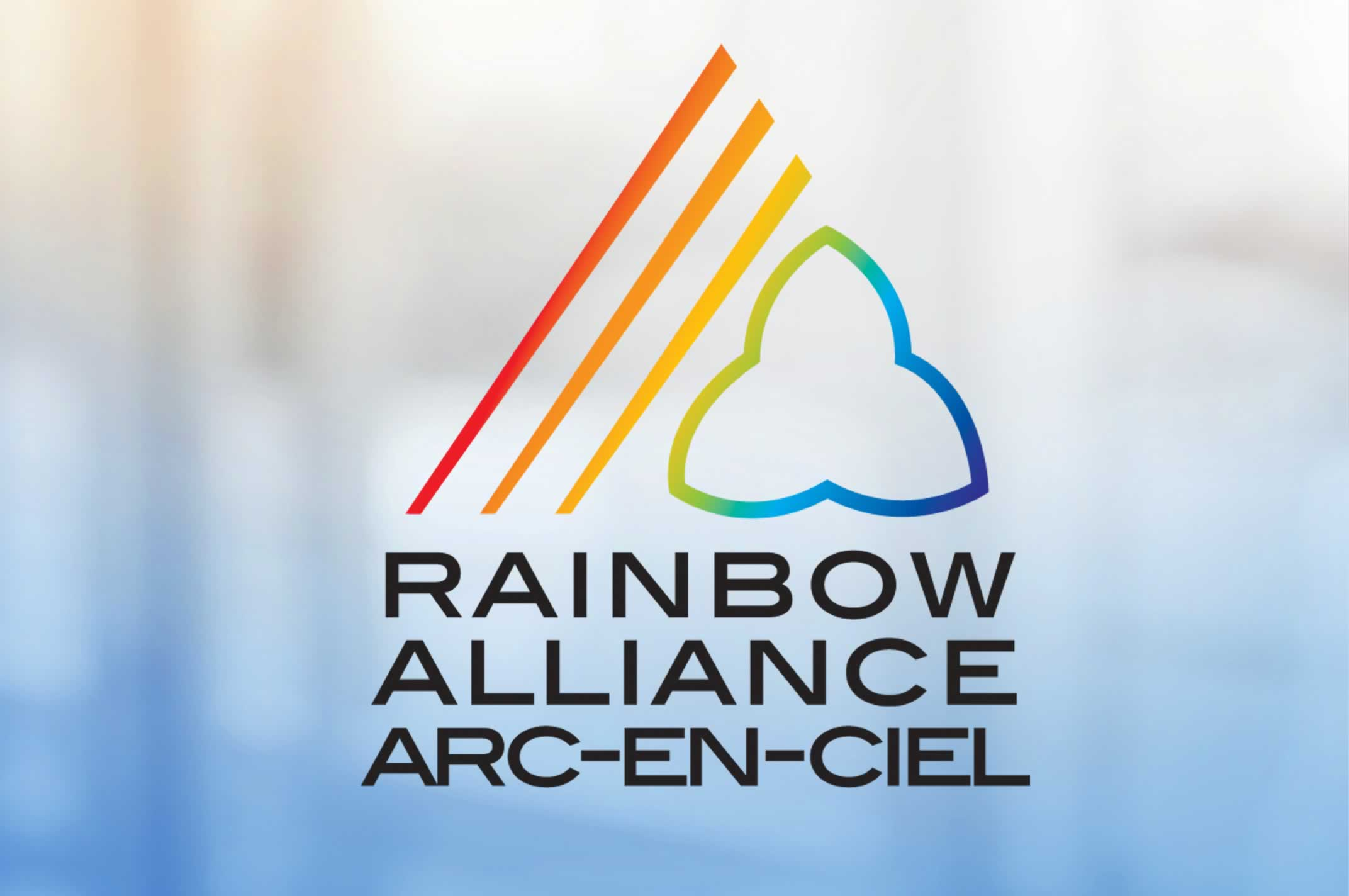 Rainbow alliance arc-en-ciel logo