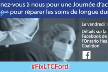 Le 1er mai, joignez-vous à la journée d'action en ligne pour réparer nos soins de longue durée