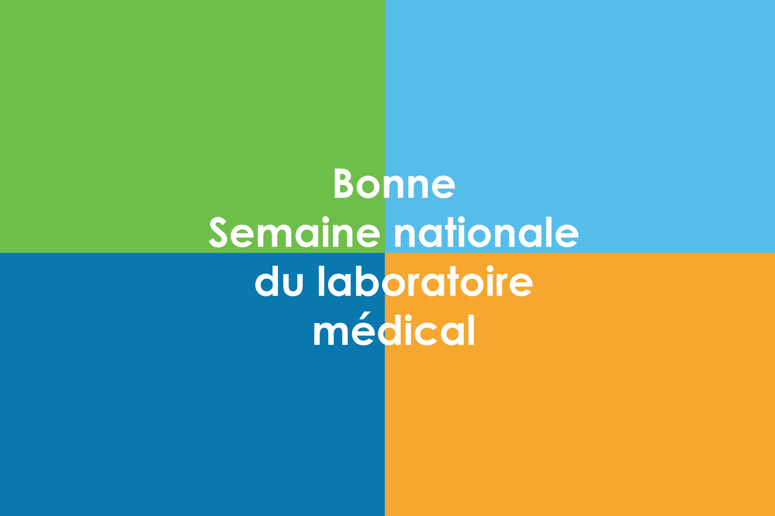 Bonee Semaine nationale de laboratoire medical