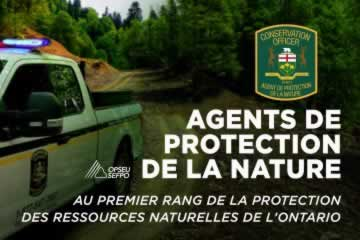 Agents de protection de la nature au premier rang de la protection des ressources naturelles de l'ontario