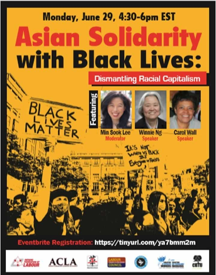 Asian Solidarity with Black Lives: dismantling Racial Capitalism
