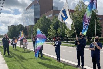 Le SEFPO participe à la manifestation contre le projet de loi 195