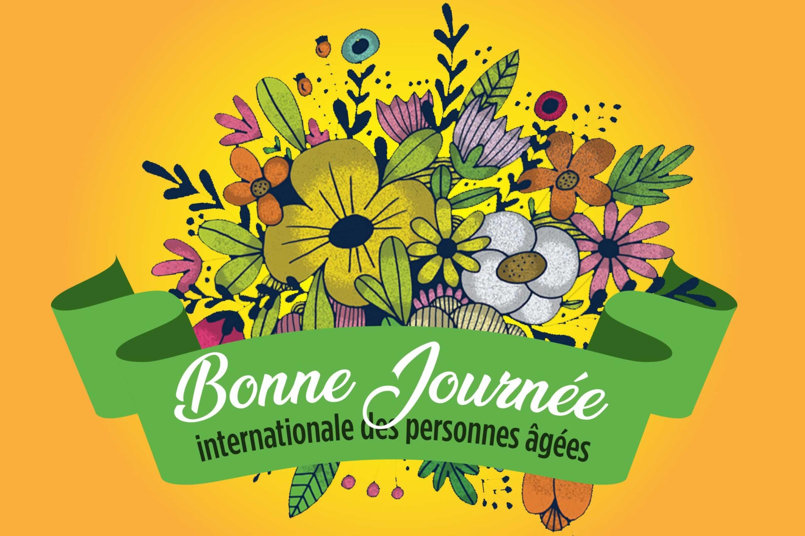 Un bouquet de fleurs pour souhaiter une Bonne journée internationle des personnes âgées