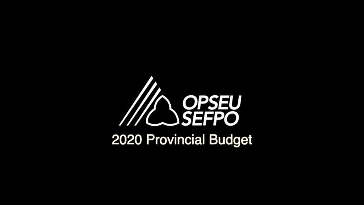 Le budget doit investir dans les personnes et les travailleurs