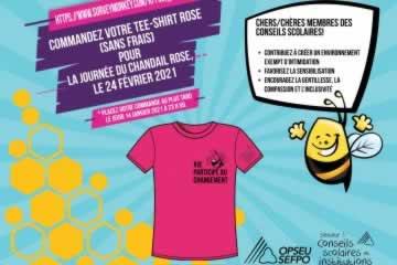 Travailleuses et travailleurs de l'éducation, dépêchez-vous : commandez votre chandail rose dès aujourd'hui!