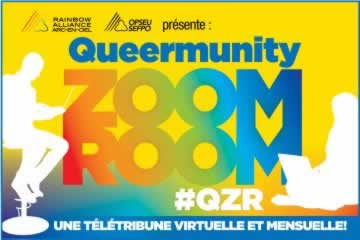 Queermunity ZoomRoom, #QZR, une teletribune virtuelle et mensuelle