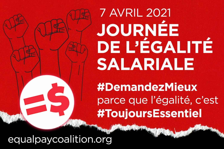 Journée de l'égalité salariale 2021 : Les femmes, essentielles à une reprise économique équitable et juste