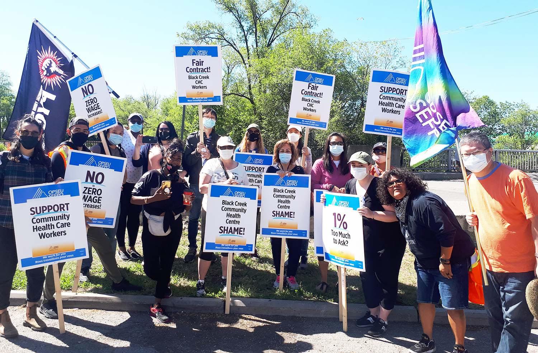 Des alliés du monde syndical et communautaire aux côtés des travailleuses et travailleurs en grève!